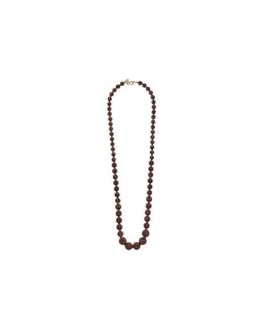 Kenneth Jay Lane - Metallic Bronze Pave Graduated Bead Necklace - Lyst