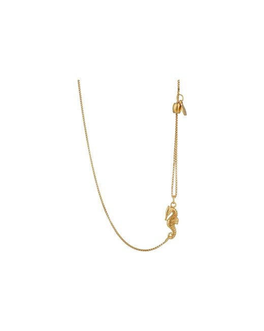 ALEX AND ANI - Metallic Pull Chain Necklace Seahorse - Lyst