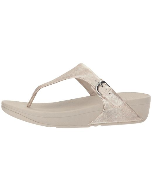 8e2d25aa653306 Lyst - Fitflop Skinny Toe Thong Sandal in Metallic - Save 29%
