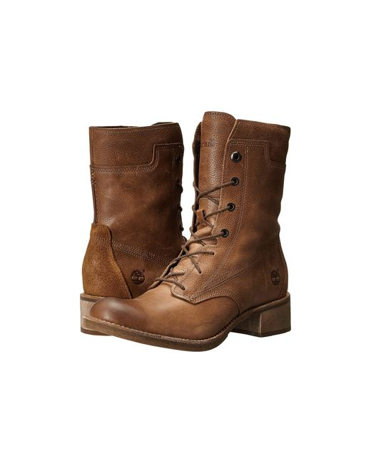 Timberland | Brown Whittemore Mid Lace Boot | Lyst