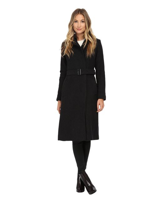 Cole Haan | Black Double Breasted Maxi Coat | Lyst