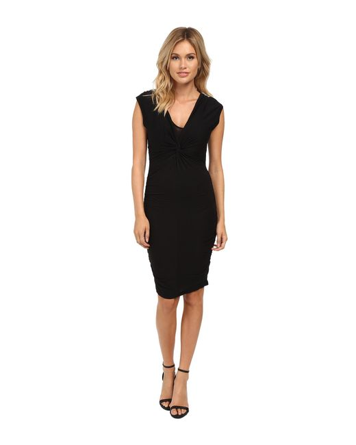 Velvet By Graham & Spencer | Black Theron Cap Sleeve Dress | Lyst