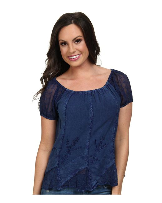 Scully | Blue Honey Creek Caitlyn Top | Lyst