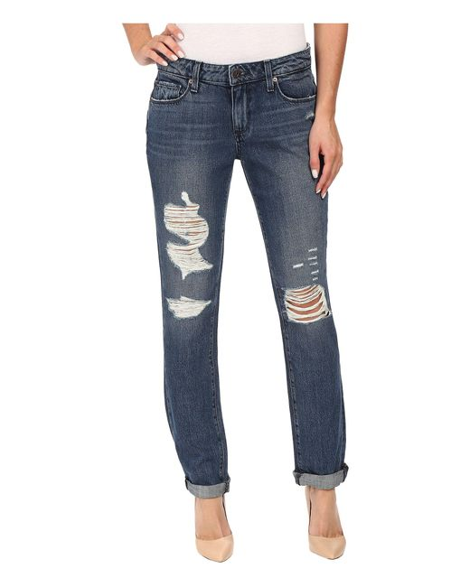 PAIGE | Blue Jimmy Jimmy Skinny In Westley Destructed | Lyst