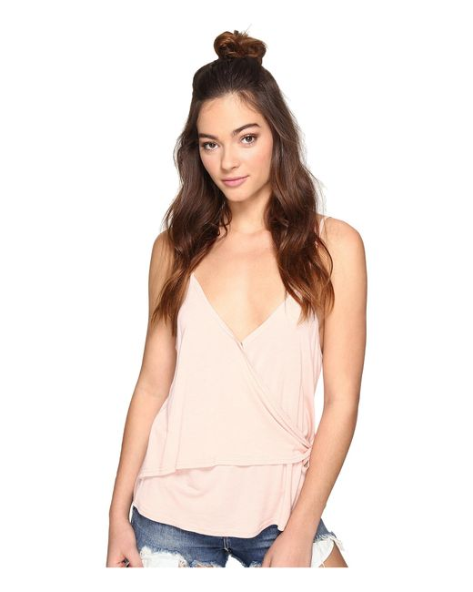 Jack BB Dakota | Pink Ysa Crossfront Tank Top | Lyst