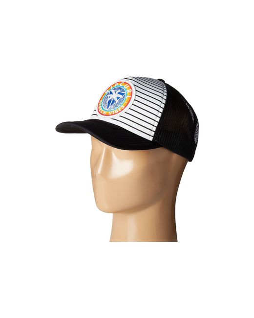 3c0a40af ... ebay rip curl white search vibes trucker hat for men lyst 5646a 83e29