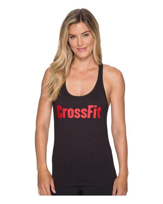 Reebok | Black Crossfit® Forging Elite Fitness Tank | Lyst