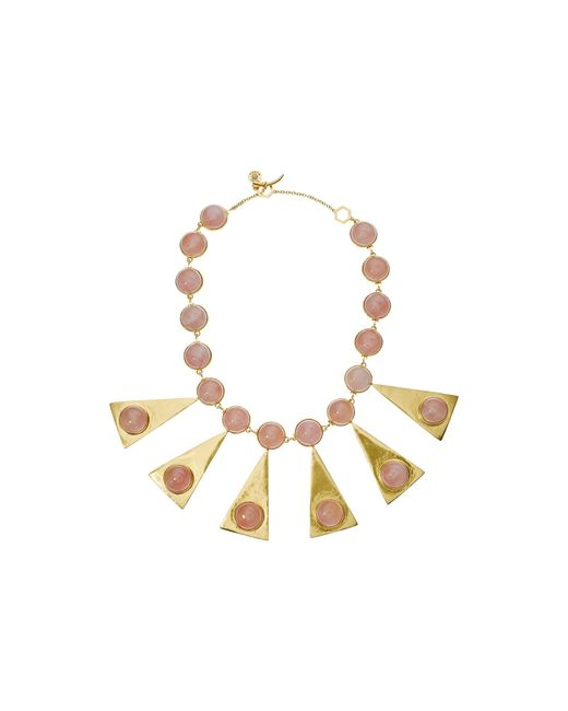 Tory Burch | Multicolor Triangle Stone Statement Necklace | Lyst