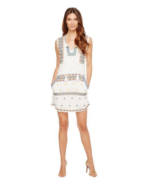 Tolani | White Merianne Sleeveless Tunic Dress | Lyst