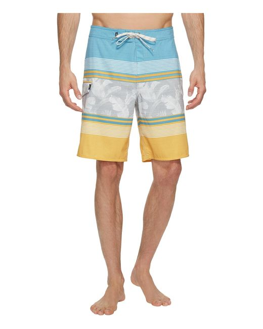 "Vans | Multicolor Bonsai Stripe Stretch Boardshorts 20"" for Men | Lyst"