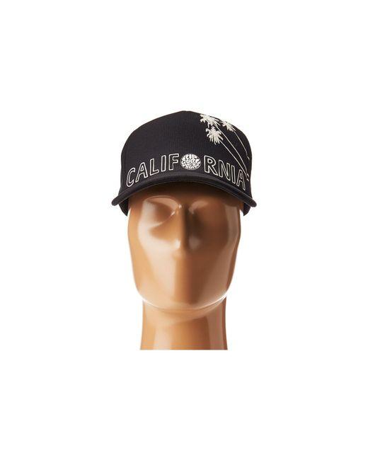 e8a0b117 ... clearance rip curl black surf stripe trucker hat for men lyst 7d780  fb4de