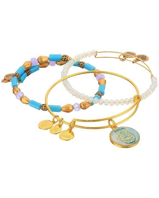 ALEX AND ANI | Metallic Moonlight Marina Bracelet Set Of 3 | Lyst
