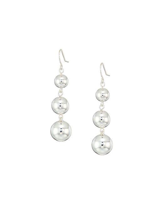 Lauren by Ralph Lauren - Metallic Metal Bead Gradual Linear Earrings - Lyst