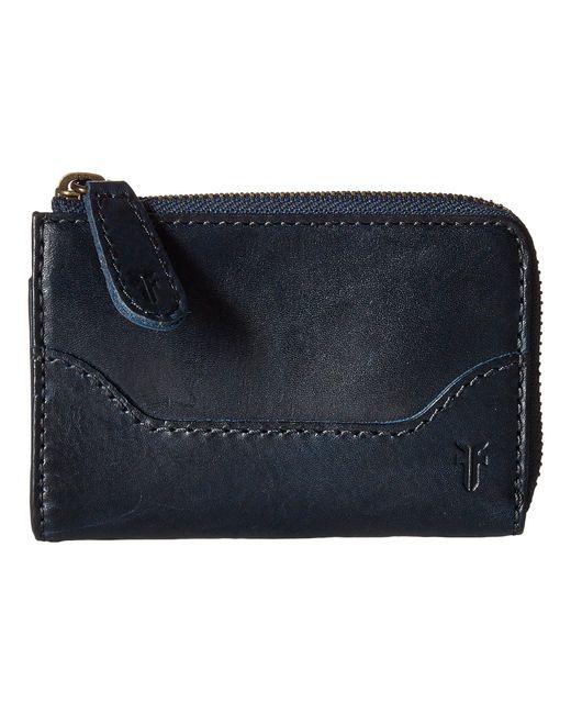 Frye - Blue Melissa Small Zip Wallet - Lyst