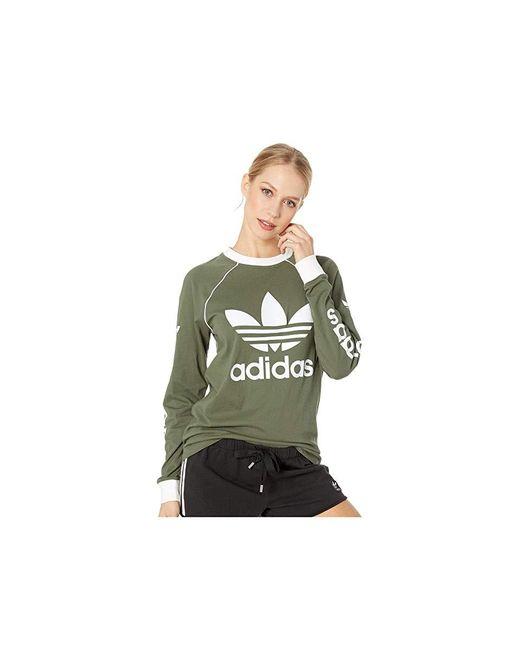 8b5859122 Adidas Originals - Og Long Sleeve (base Green) Long Sleeve Pullover - Lyst  ...