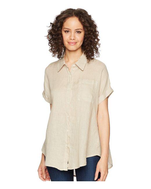 Allen Allen - Natural Short Sleeve Camp Shirt - Lyst
