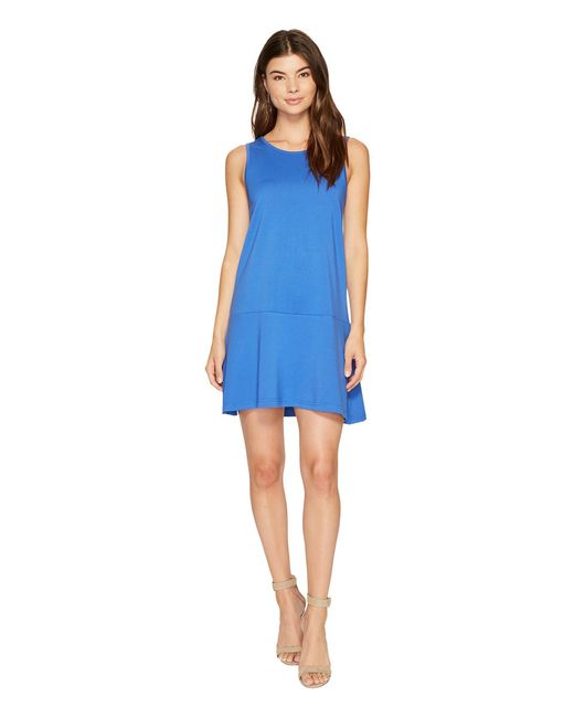 Jack BB Dakota - Blue Ponte Drop-waist Dress - Lyst