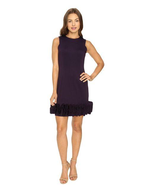 Rsvp - Blue Jackie Ruffle Bottom Dress - Lyst