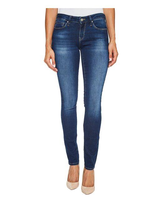 Mavi Jeans - Blue Alexa Mid-rise Skinny In Dark Brushed Shanti - Lyst