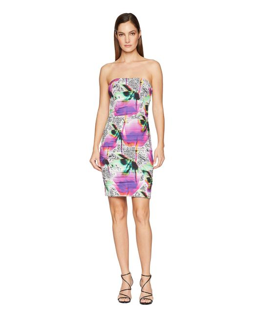 Nicole Miller - Multicolor Strapless Dress - Lyst