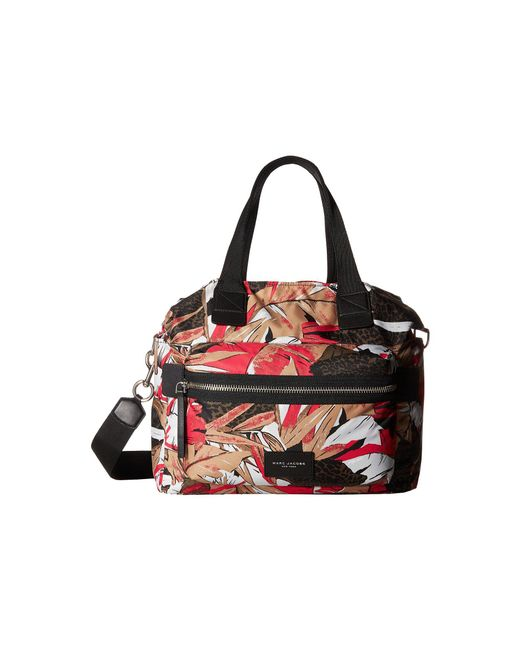 Marc Jacobs - Pink Palm Printed Biker Babybag - Lyst