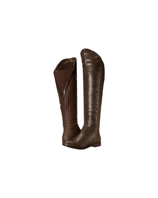 Chinese Laundry - Brown Racer Over The Knee Quilted Boot - Lyst