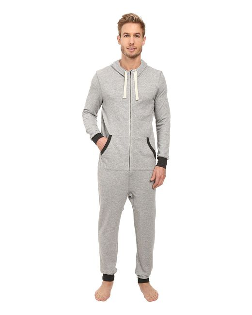 2xist - Gray French Terry Flight Suit for Men - Lyst