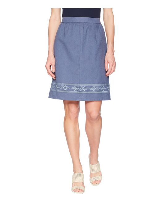 Pendleton - Blue Embroidered Hem Skirt - Lyst