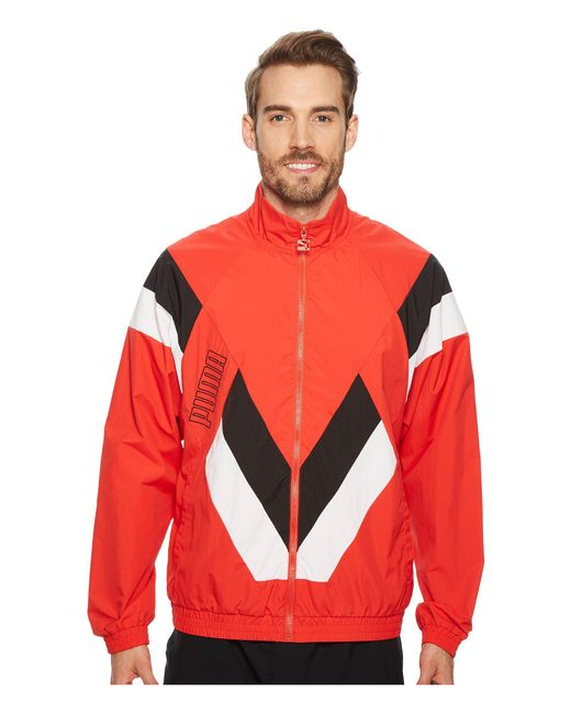PUMA - Red Heritage Jacket for Men - Lyst