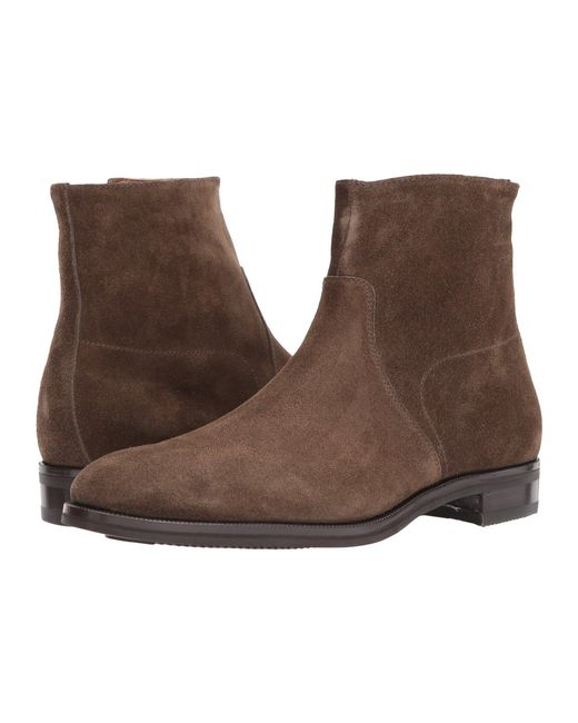 Gravati - Green Size Zip Plain Toe Suede Boot for Men - Lyst