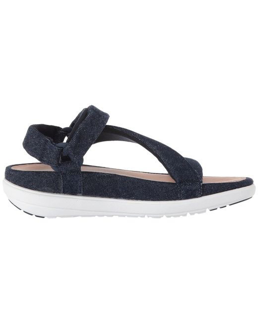 c5f17b6dcb497c Lyst - Fitflop Loosh Luxetm Z-strap Denim Sandals in Blue - Save 45%