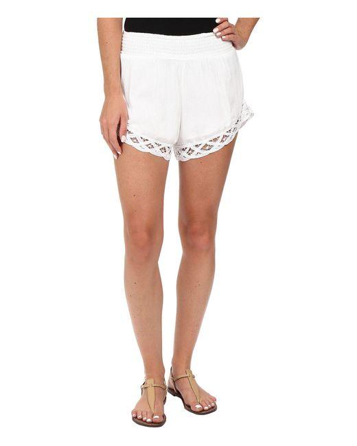 Volcom - White Dreamt It Shorts - Lyst