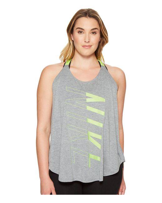 Nike - Gray Breathe Training Tank (size 1x-3x) - Lyst