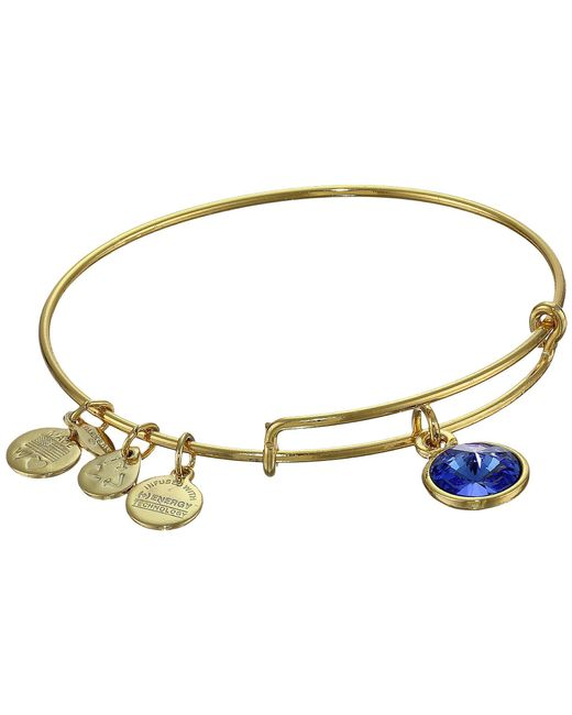 ALEX AND ANI - Multicolor September Birthstone Charm Bangle - Lyst