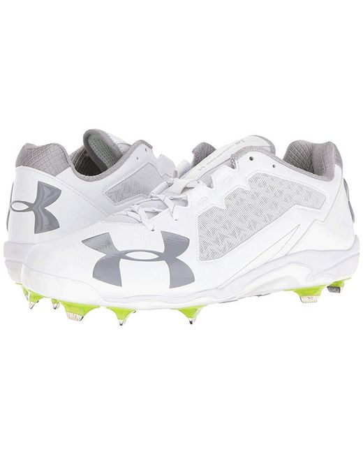 6e3adb9097f9 Under Armour - Ua Deception Low Dt (white/white) Cleated Shoes for Men ...