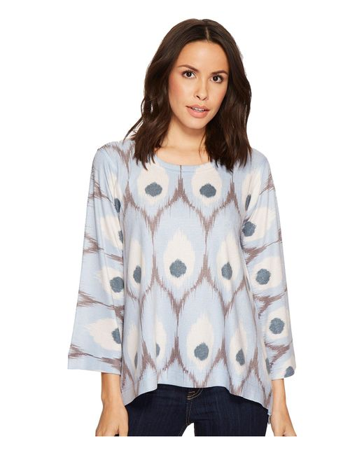 Nally & Millie - Blue Feather Print Top - Lyst