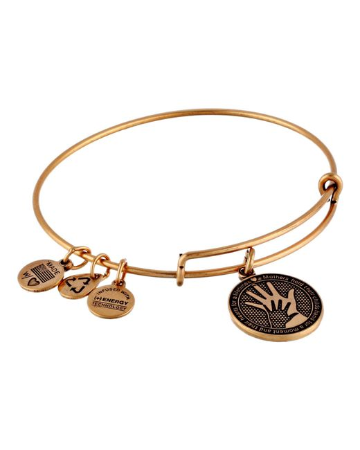 ALEX AND ANI - Metallic Hand In Hand Charm Bangle - Lyst