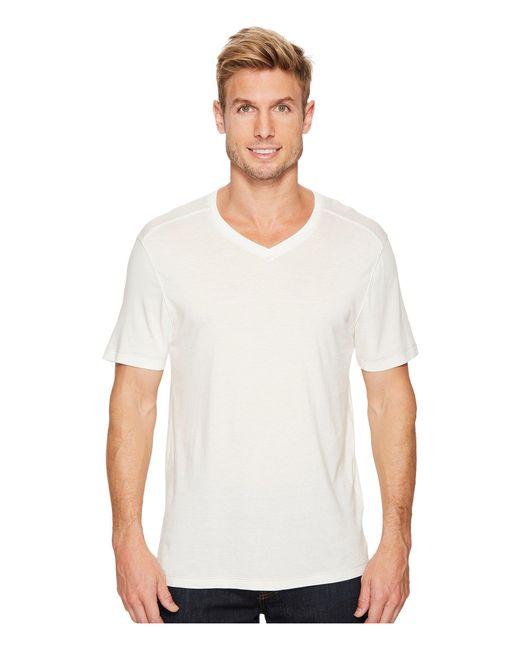 Agave - White Cory Short Sleeve V-neck Tee for Men - Lyst