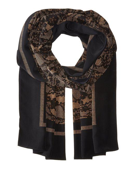 MICHAEL Michael Kors - Black Delicate Lace Print Oblong - Lyst