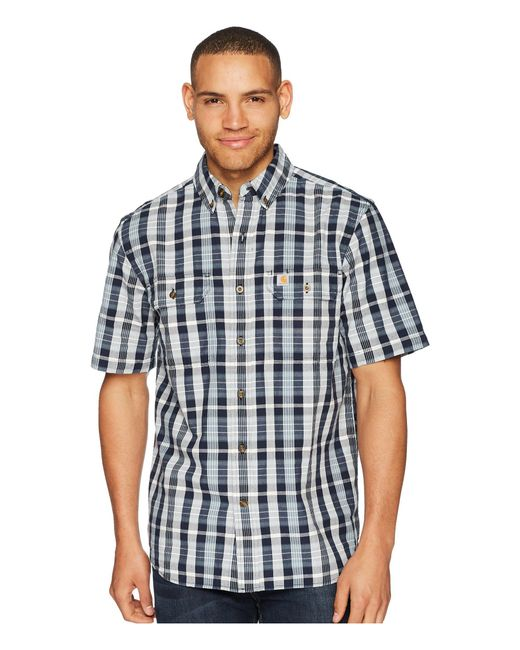 Carhartt - Blue Fort Plaid Short Sleeve Top for Men - Lyst