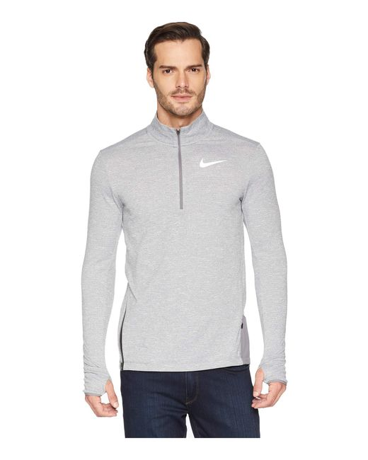 a7d3f7fcf453 Nike - Gray Sphere Element Top 1 2 Zip 2.0 for Men - Lyst ...