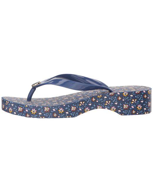 d7e0c9155 Lyst - Tory Burch Wedge Flip-flop in Blue - Save 55%
