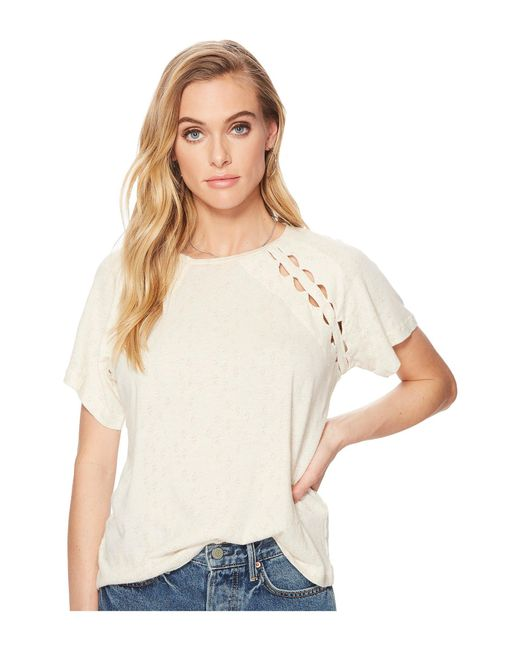 Lucky Brand - Natural Cut Out Tee - Lyst