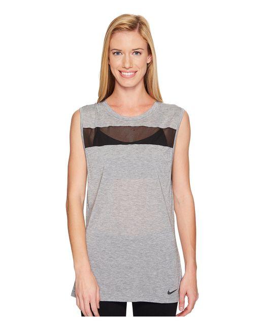 cc2e3fd8e2e Lyst - Nike Breathe Sleeveless Training Top in Black - Save 33%