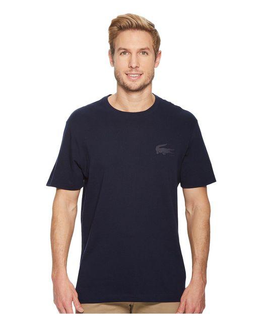 Lacoste - Blue Short Sleeve Graphics Jersey Bonded Croc Reg Fit T-shirt, Th3241 for Men - Lyst