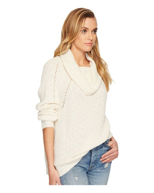 Lyst Free People By Your Side Sweater In White Save
