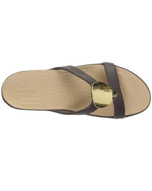 2f036e7d4bb5 ... Crocs™ - Metallic Sanrah Embellished Sandal - Lyst ...