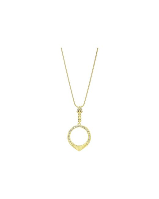 House of Harlow 1960 - Metallic Luna Small Stone Necklace - Lyst