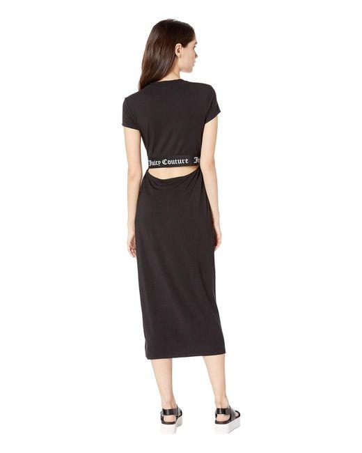 ... Juicy Couture - Black Juicy Jacquard T-shirt Dress - Lyst ... c1315b685