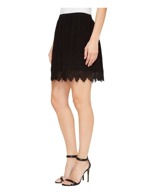 ... Lucky Brand | Black Lace Skirt | Lyst ...